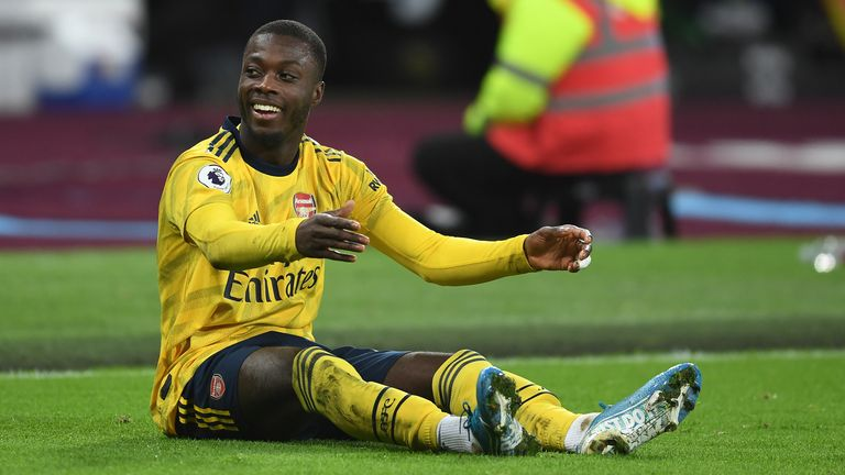 Arsenal could be without Nicolas Pepe for the visit of Manchester City