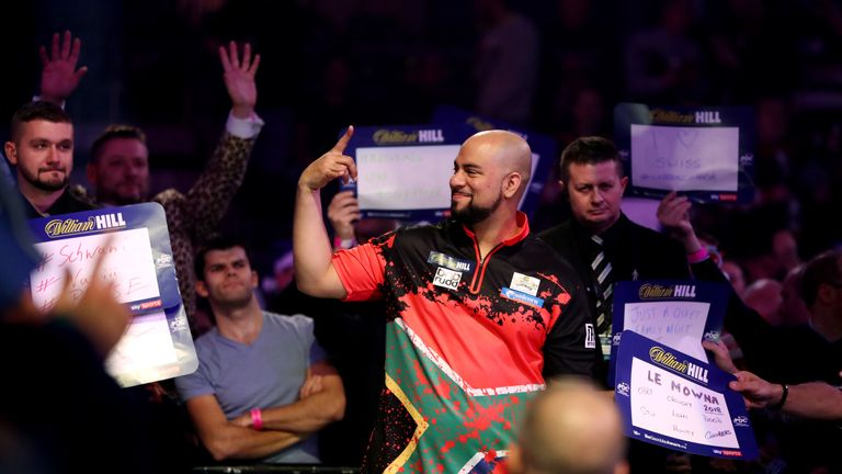 Devon Petersen's walk-on at the World Championship