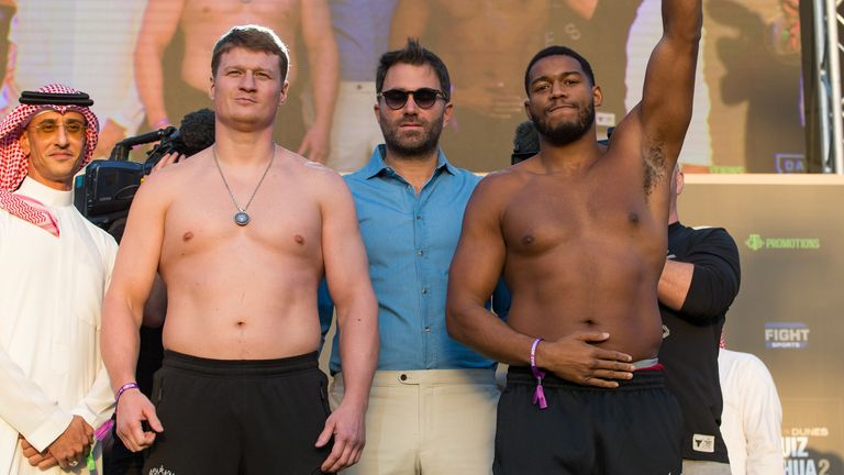 Povetkin (16st 5lbs) & Hunter (16st 2lbs) fought to a draw