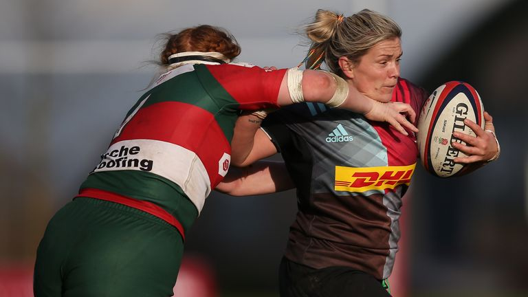 Rachael Burford and Harlequins were among the big winners in this week's Tyrrells Premier 15s action