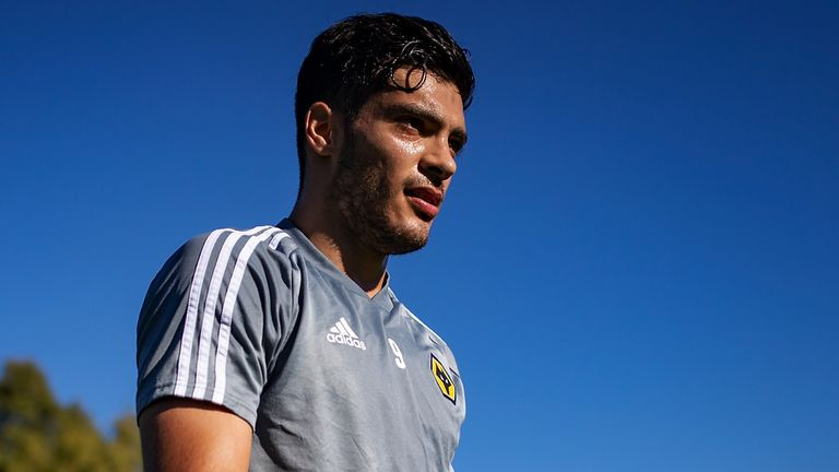Raul Jimenez of Wolverhampton Wanderers looks on during Wolverhampton Wanderers training session at Marbella Football Centre on December 10, 2019 in Marbella, Spain