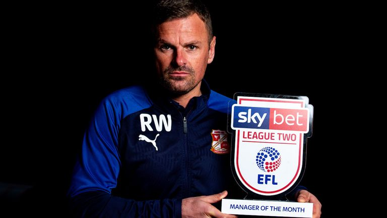 Wellens won the League Two manager of the month award for November