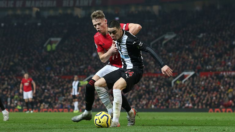 McTominay last played against Newcastle on Boxing Day