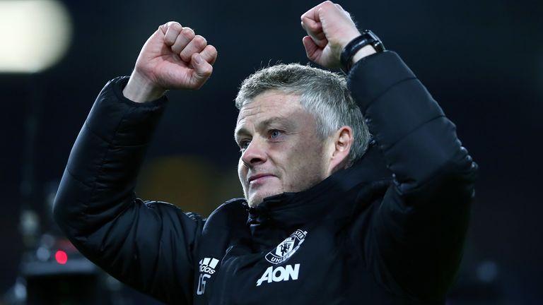 Ole Gunnar Solskjaer salutes the crowd at Old Trafford