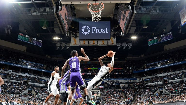 San Antonio Spurs against Sacramento Kings in the NBA