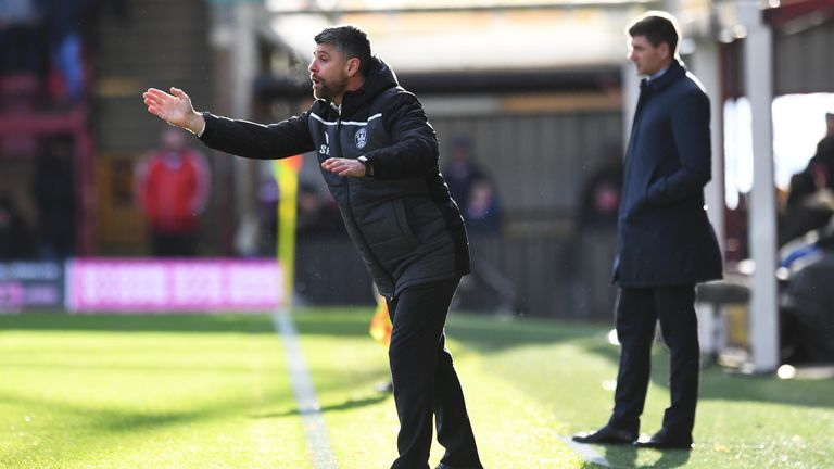 MOTHERWELL, SCOTLAND - DECEMBER 15: Motherwell manager Stephen Robinson on the touchline during the Ladbrokes Premiership match between Motherwell and Rangers at Fir Park, on December 15, 2019, in Edinburgh, Scotland. (Photo by Craig Williamson / SNS Group)