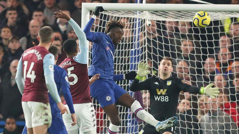 Tammy Abraham makes it 1-0 vs Aston Villa