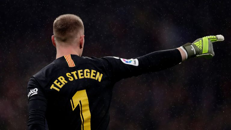 Marc-Andre ter Stegen would not be beaten on Sunday night