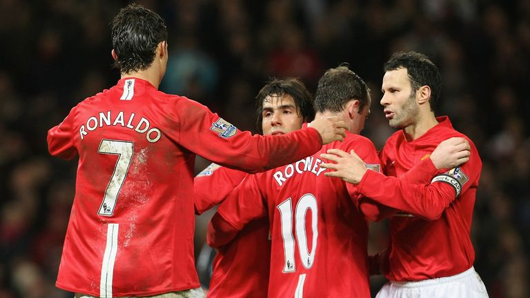 Manchester United won back-to-back titles during Carlos Tevez's two year spell