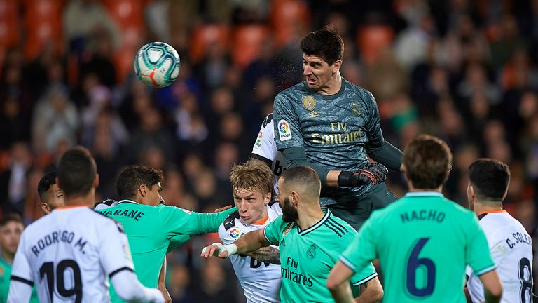 Thibaut Courtois' header helped Real Madrid earn a late draw