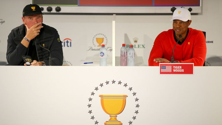 Tiger Woods and the US will take on an International team captained by Ernie Els