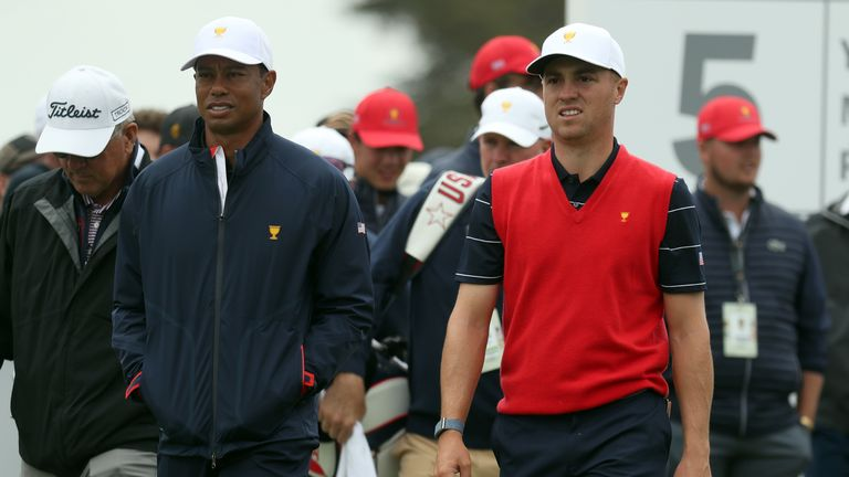 Tiger Woods and Justin Thomas will team up in the first match out in Melbourne on Thursday