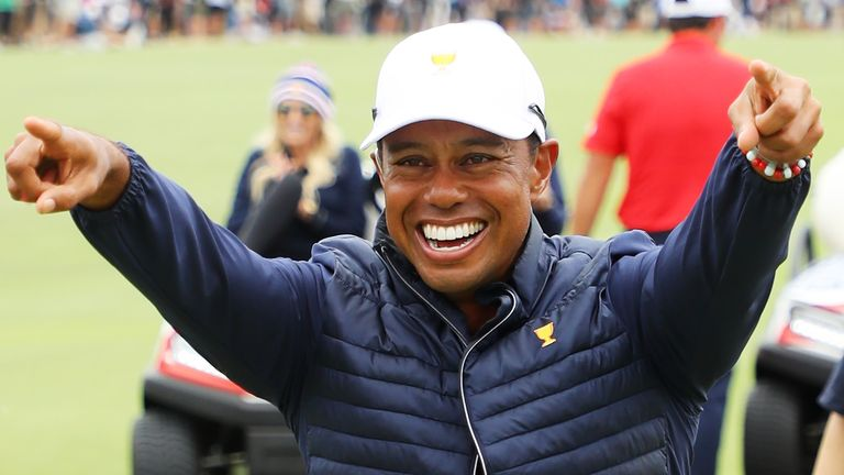 Image result for Tiger Woods leads USA to stunning comeback victory in Presidents Cup