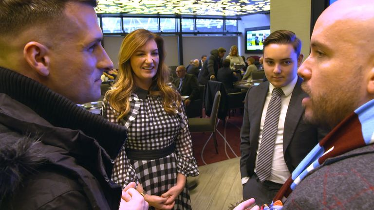 Mark and Tom pay a visit to see Karren Brady and Jack Sullivan at half-time