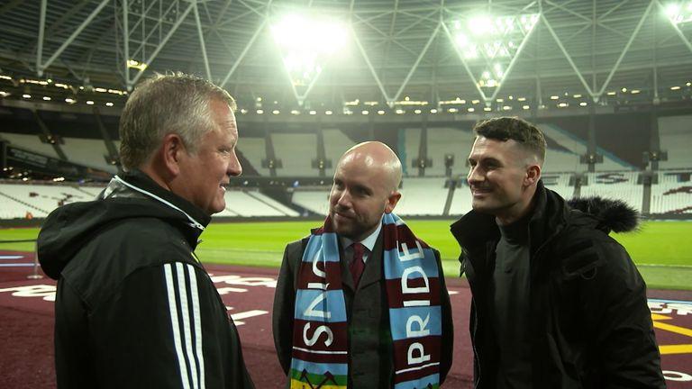 Chris Wilder, Tom Allen, Mark McAdam, 'I'm Game' for Rainbow Laces at West Ham