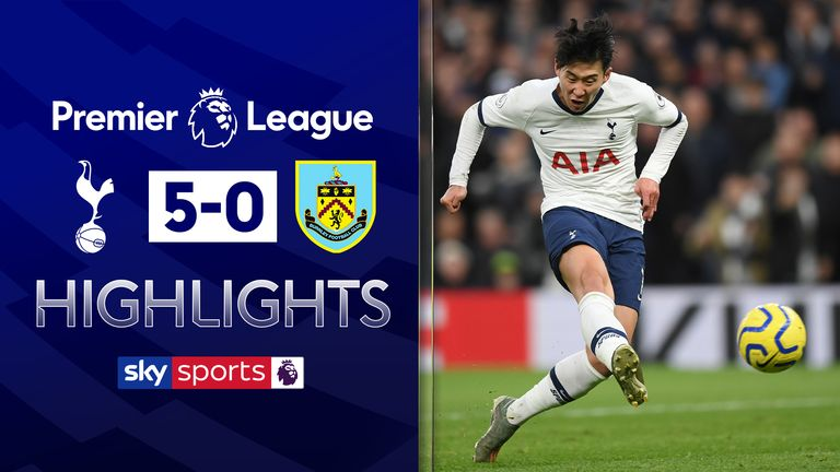 Highlights from Tottenham vs Burnley in the Premier League