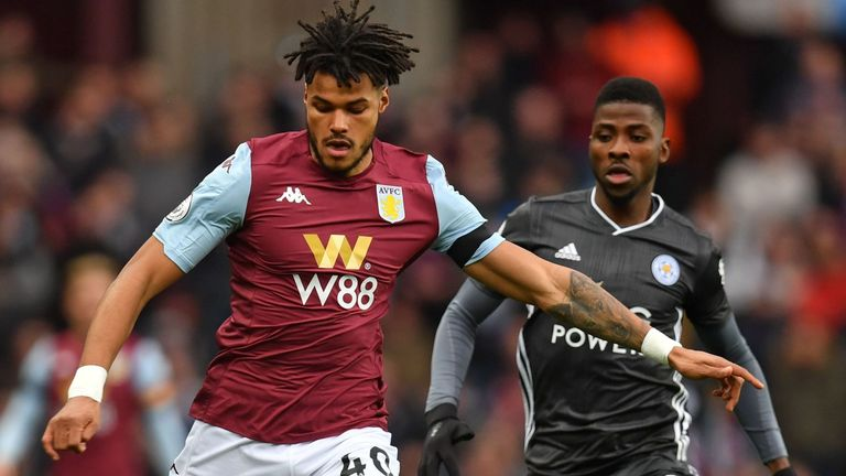 Aston Villa defender Tyrone Mings went off injured in the first half