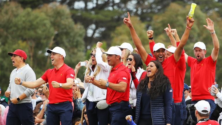 American celebrations as the win is secured