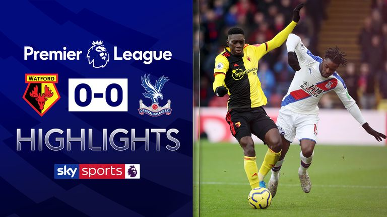 Highlights from Watford vs Crystal Palace in the Premier League
