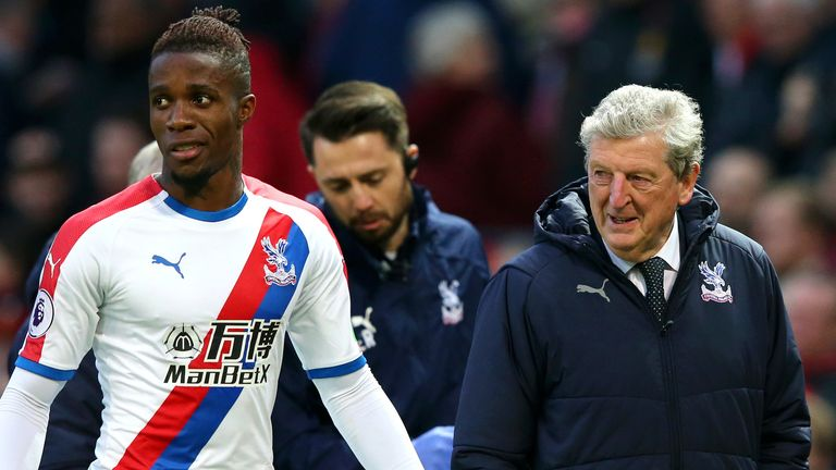 Crystal Palace manager Roy Hodgson is hoping to keep hold of in-form winger Wilfried Zaha