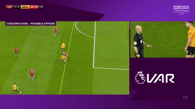Jonny was adjudged to have been offside in the build-up to Wolves' goal against Liverpool