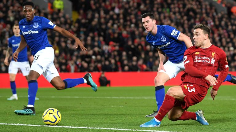Xherdan Shaqiri doubles Liverpool's lead