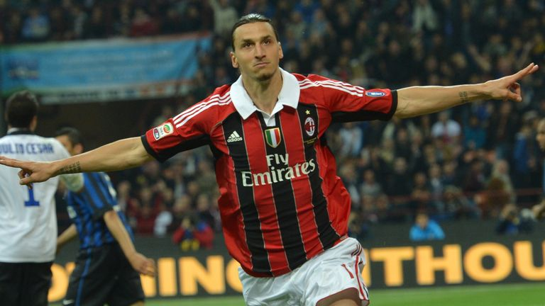 Zlatan Ibrahimovic scored 56 goals in 85 appearances during his two seasons with AC Milan