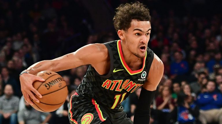 Trae Young teases the Knicks defense with a crossover dribble