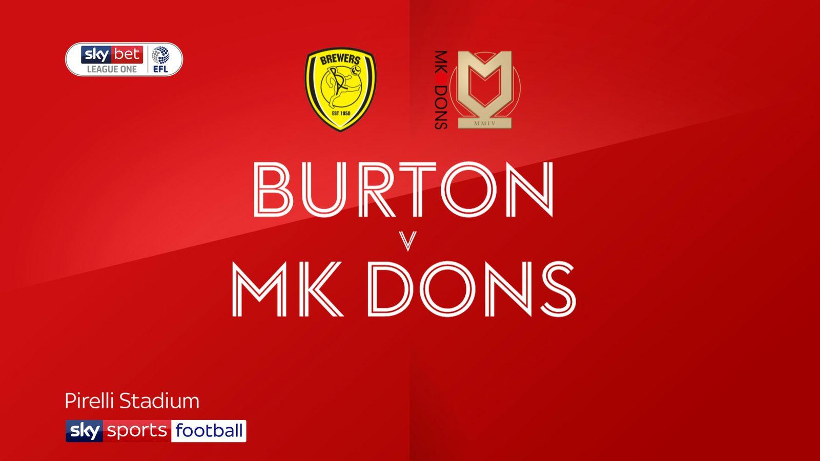 Burton 1-0 MK Dons: Liam Boyce secures victory