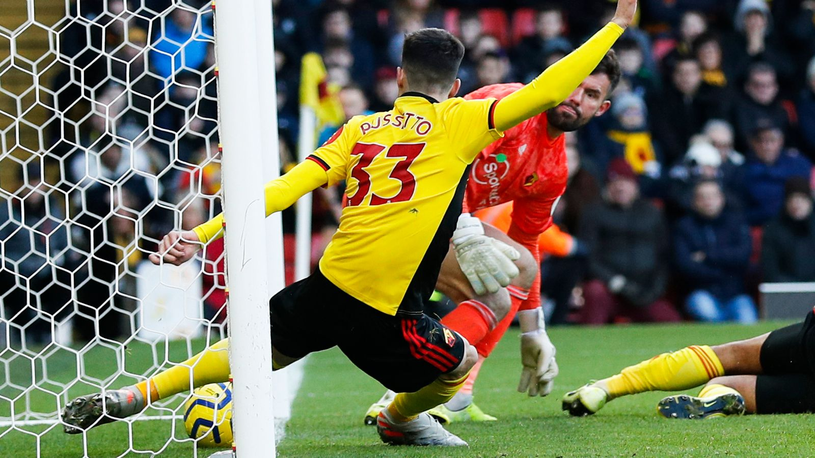 Watford 0-0 Tottenham: Goal-line clearance denies Spurs win by 10.04mm