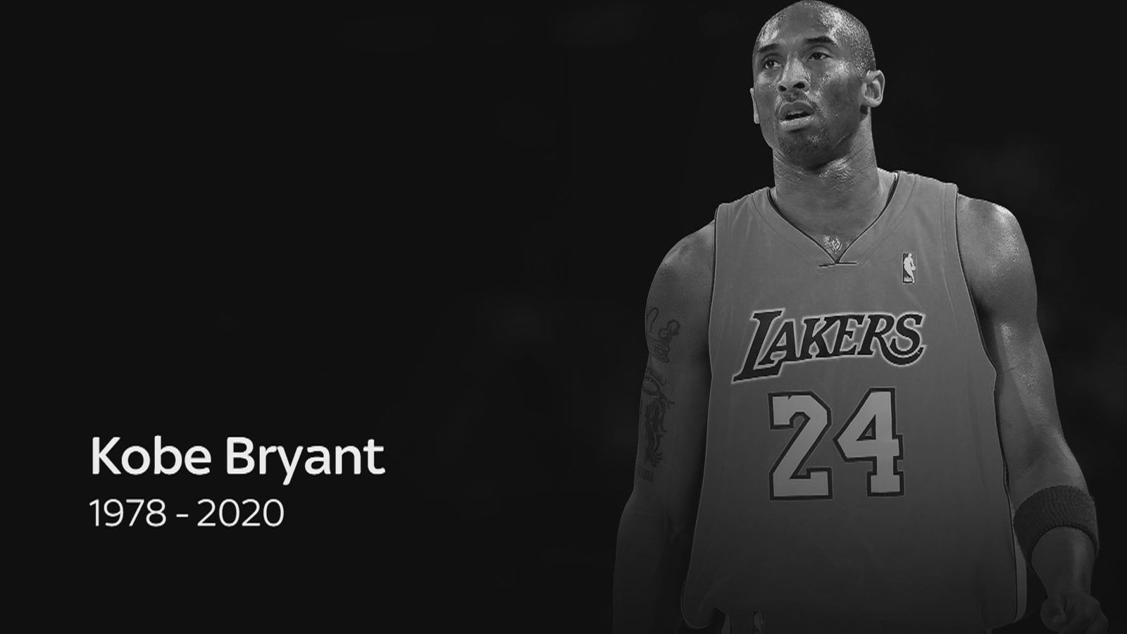 Los Angeles Lakers' legendary basketball player, Kobe Bryant died today in a tragic helicopter crash.  (Photo: SkySports, via skysports.com)