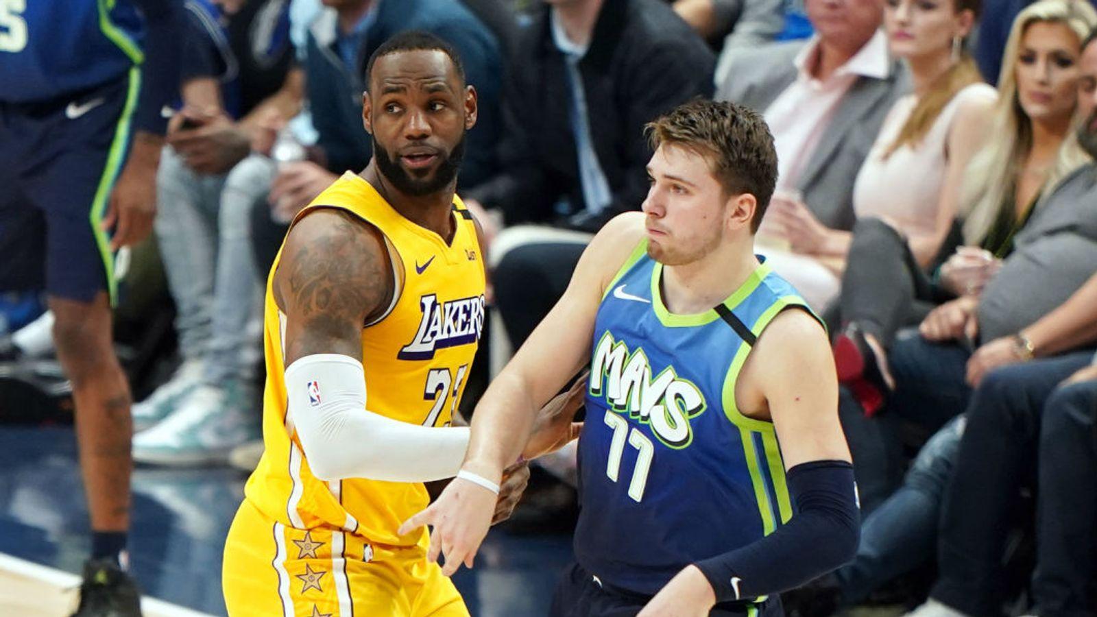 LA Lakers cruise to victory over the Dallas Mavericks   NBA News   Sky Sports