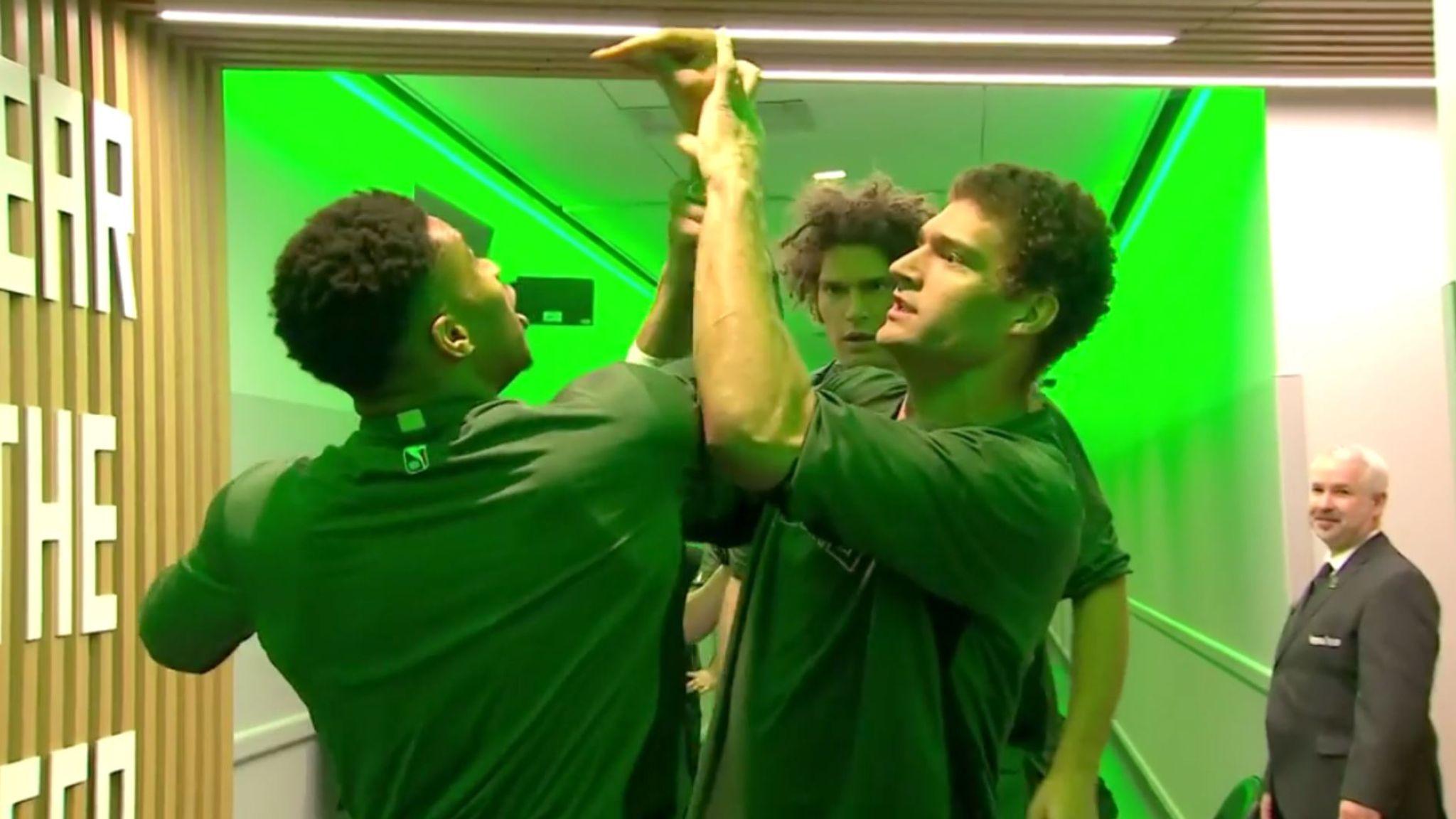 Giannis Antetokounmpo and Brook Lopez explain Milwaukee Bucks' WWE pre-game ritual