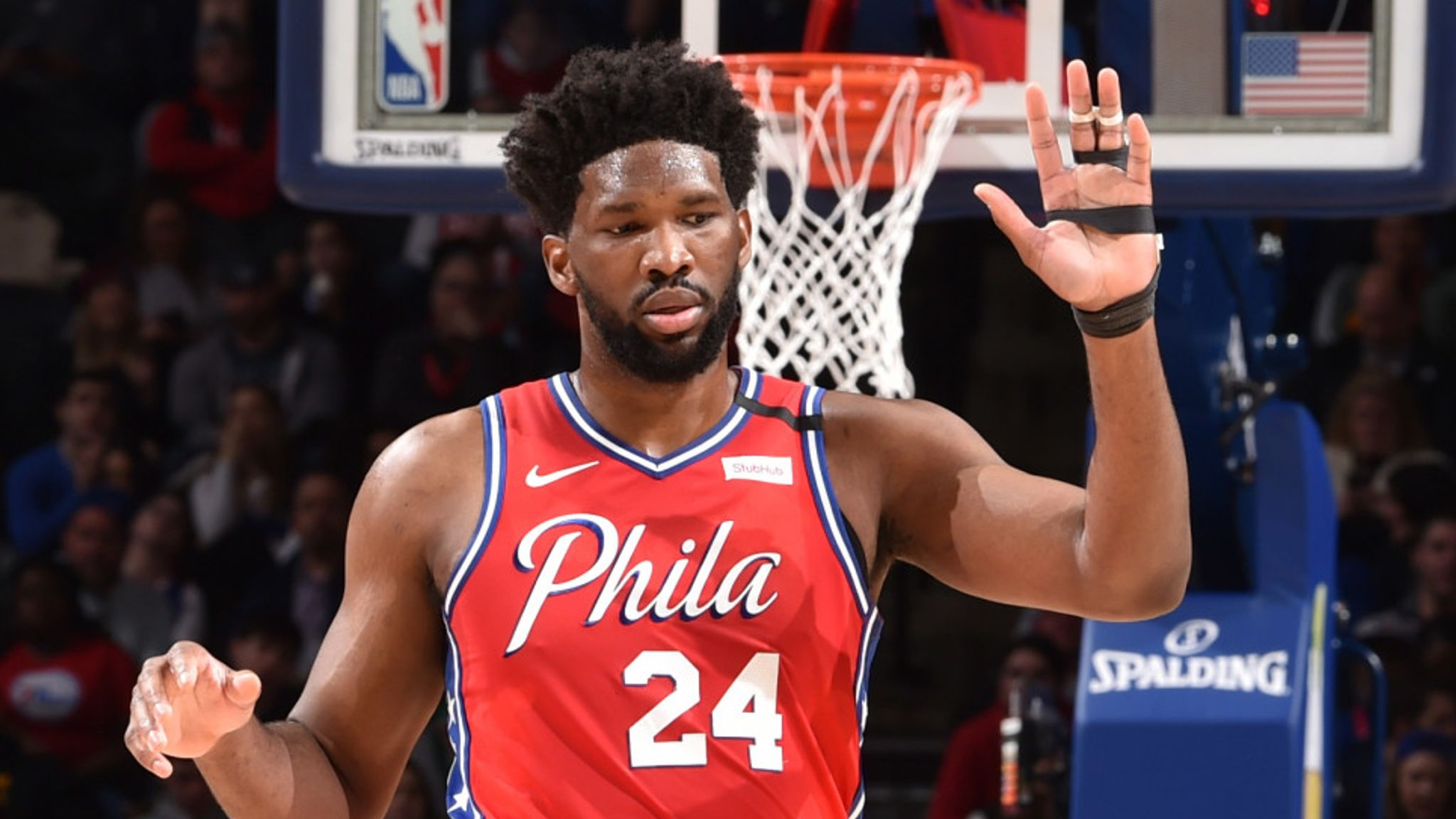 Joel Embiid honours Kobe Bryant and leads Philadelphia 76ers to victory in his return from injury