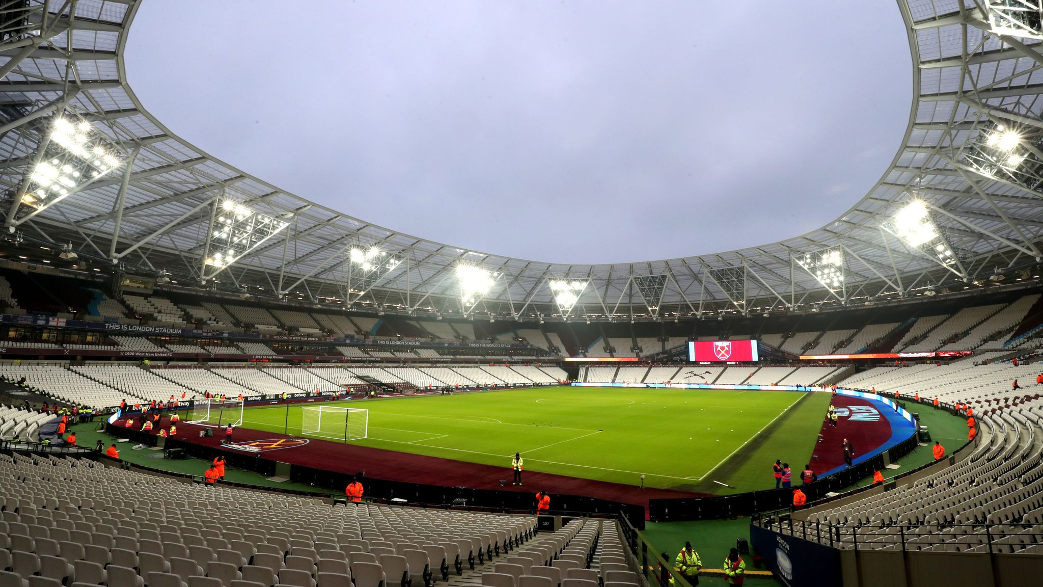 West Ham S London Stadium To Receive Two New Tiers Of Seating Football News Sky Sports