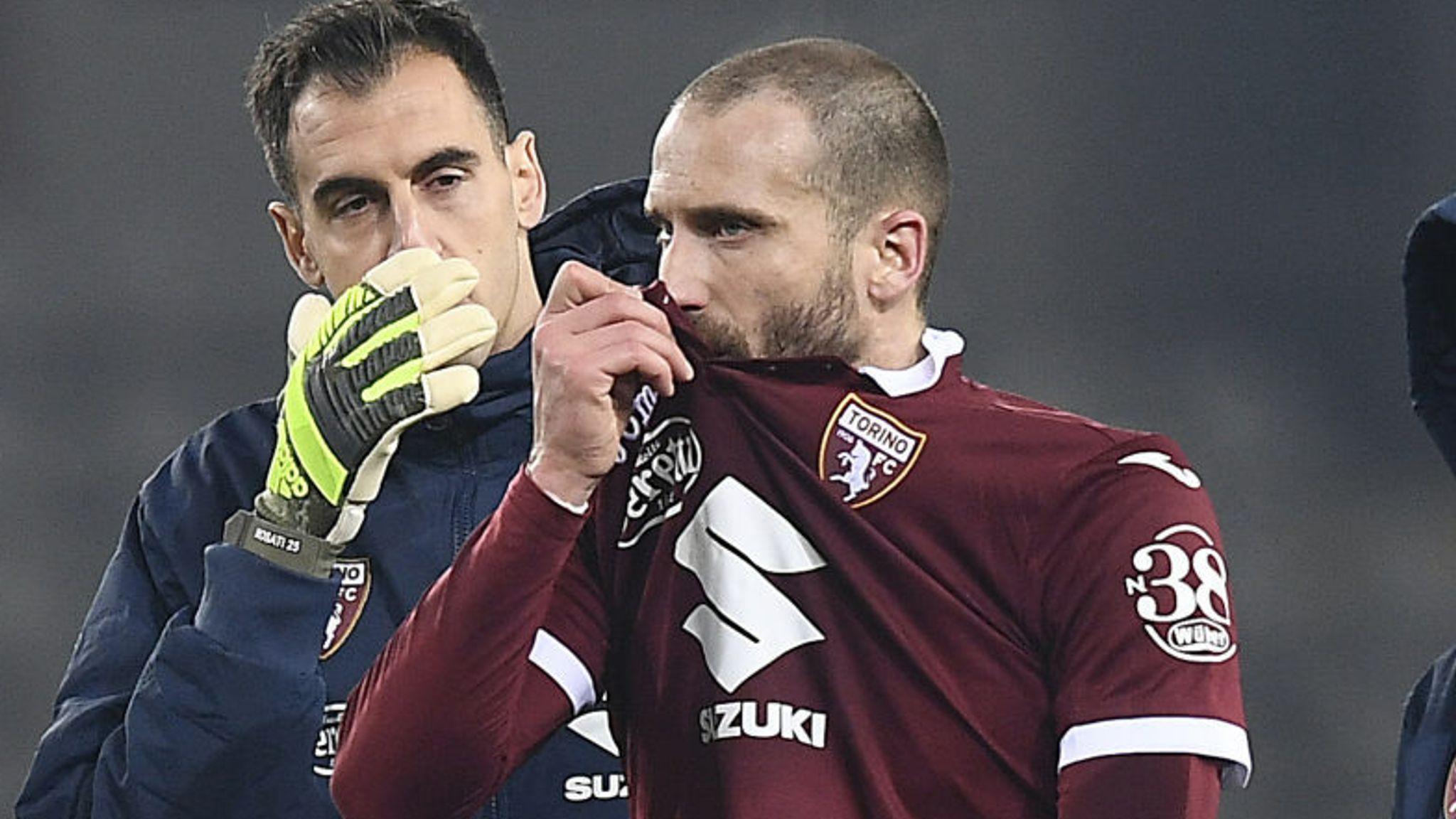 Torino players fight back tears after 7-0 thrashing by Atalanta