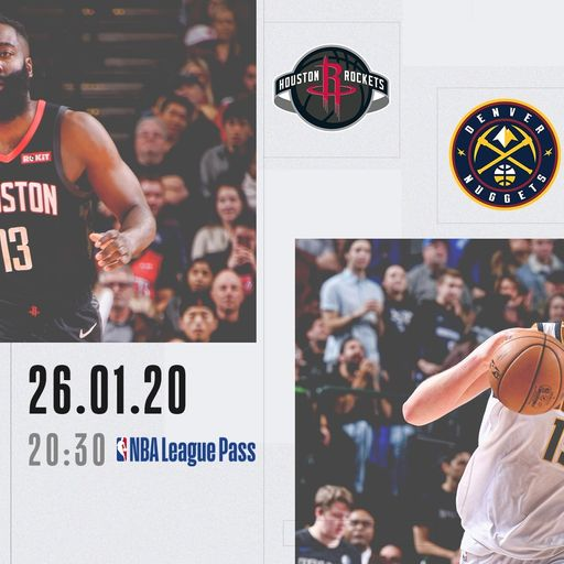 NBA Primetime: Rockets @ Nuggets on Sky Sports