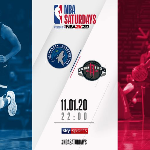 Watch T-Wolves @ Rockets free on Sky Sports