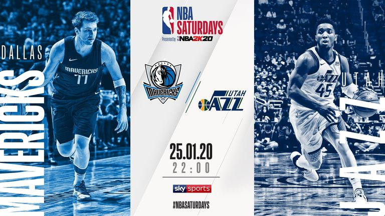 Watch the Dallas Mavericks take on the Utah Jazz for free on Sky Sports on Saturday at 10pm