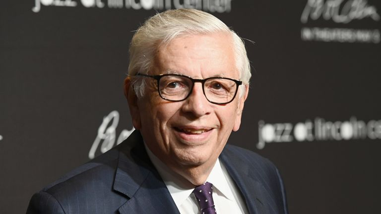 David Stern, pictured at the Lincoln Center in New York in April 2019