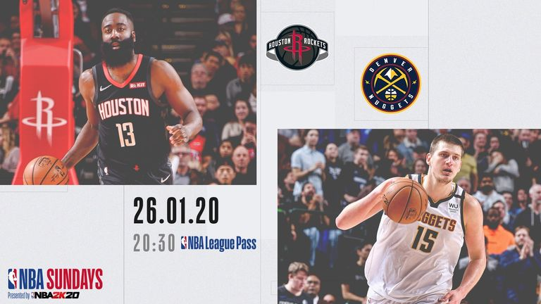 Watch the Houston Rockets take on the Denver Nuggets in an NBA Primetime clash, live on Sky Sports Mix on Sunday at 8:30pm