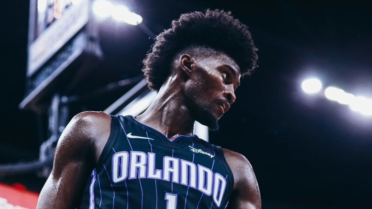 Jonathan Isaac in action for Orlando