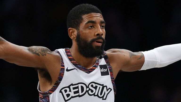 Kyrie Irving in against on his return to the Brooklyn Nets line-up