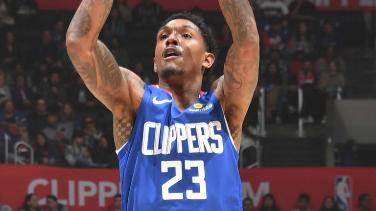 Lou Williams lets fly from three-point range against the Knicks