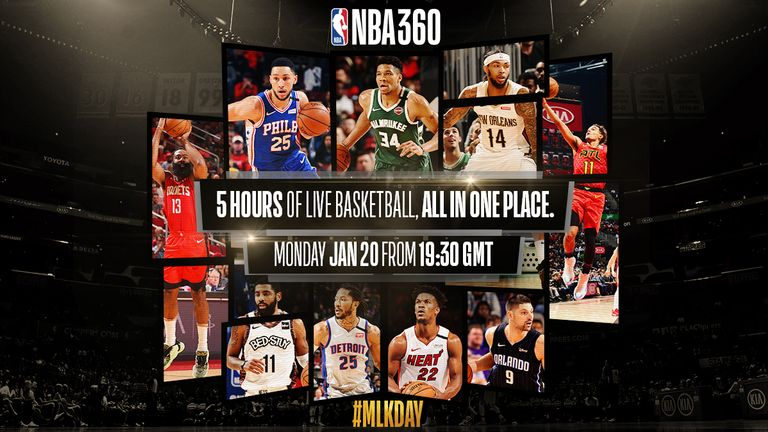 Follow five hours of live basketball all in one place with NBA 360, live on Sky Sports