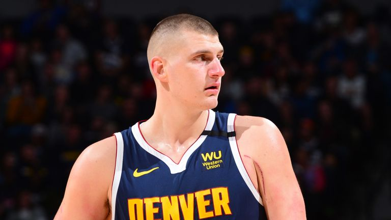 Nikola Jokic in action for the Denver Nuggets against the Indiana Pacers