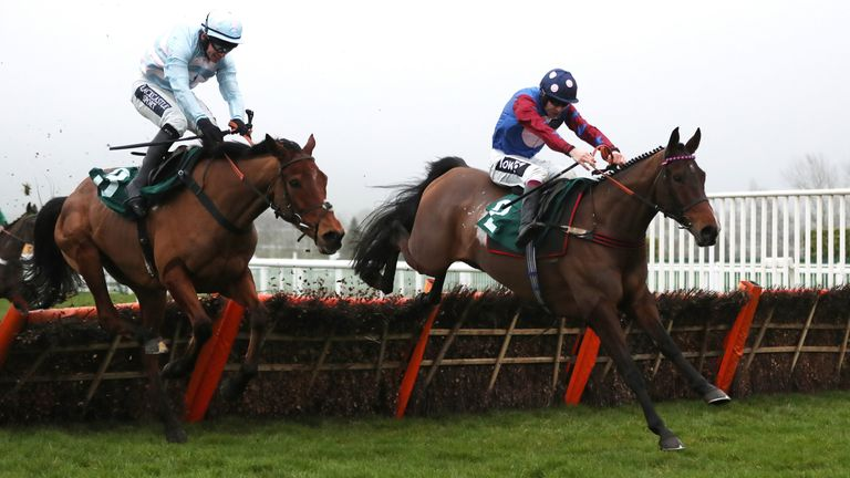 Paisley Park ridden by Aidan Coleman on their way to victory in the galliardhomes.com Cleeve Hurdle during Festival Trials Day at Cheltenham Racecourse. PA Photo. Picture date: Saturday January 25, 2020. See PA story RACING Cheltenham. Photo credit should read: David Davies/PA Wire.