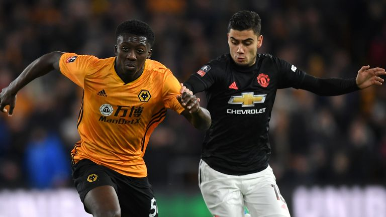 Bernard Ashley-Seal holds off Andreas Pereira in the first leg