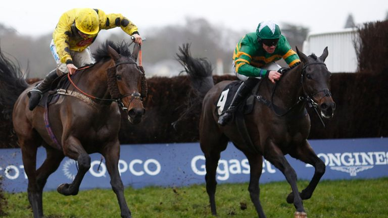 Regal Encore and Richie McLernon (right) winning at Ascot