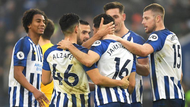 Alireza Jahanbakhsh celebrates his equalsier with team-mates